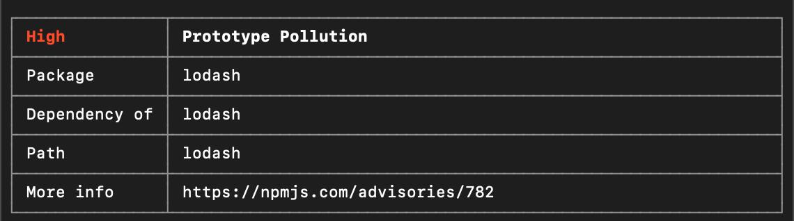 prototype pollution vulnerabilities
